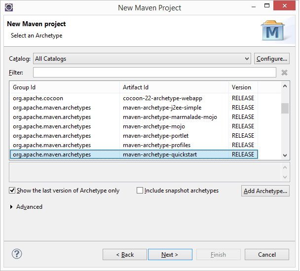 Create new maven project